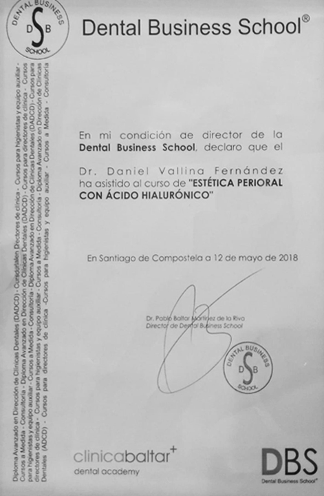 Certificado Curso Dentistas Mieres
